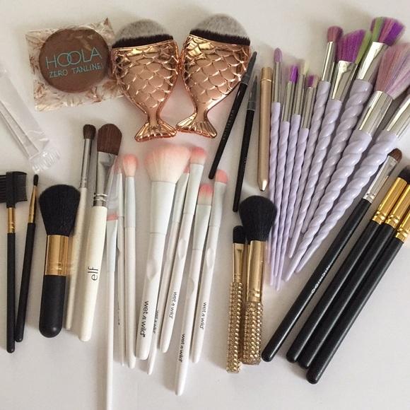 Huge Makeup Brush Bundle - With Unicorn Brushes!